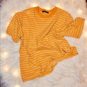Brandy Melville | 💛yellow striped t-shirt